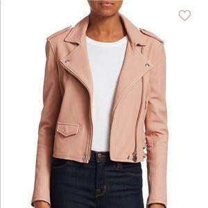 IRO Ashville Leather Jacket Size 36 (S) NWT Powder
